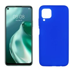 Funda de silicona azul para Huawei P40 Lite
