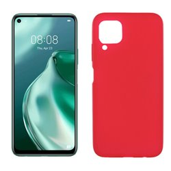 Funda de silicona roja para Huawei P40 Lite