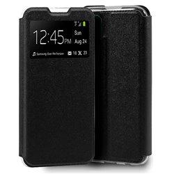 Funda con tapa y ventana para Huawei P40 Lite Negro