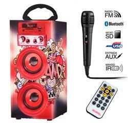 Altavoz Bluetooth Karaoke JKX 302 6W, Voz Español