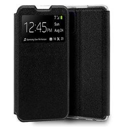 Funda con tapa y ventana para Samsung Galaxy Note 10 Lite Negro