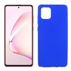 Funda de silicona azul para Samsung Galaxy Note 10 Lite