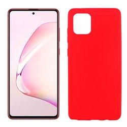 Funda de silicona roja para Samsung Galaxy Note 10 Lite