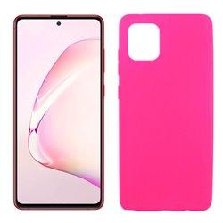 Funda de silicona rosa para Samsung Galaxy Note 10 Lite