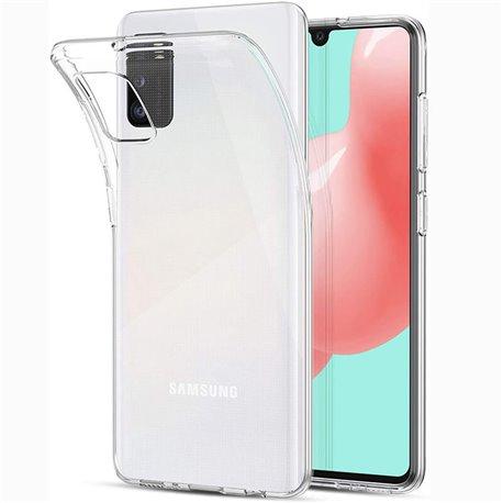 Funda de silicona transparente para Samsung Galaxy A41