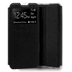Funda con tapa y ventana para Samsung Galaxy A41 Negro