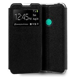Funda con tapa y ventana para Huawei P40 Lite E Negro