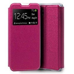 Funda de Tapa con Ventana para Xiaomi Mi Note 10 Lite Rosa
