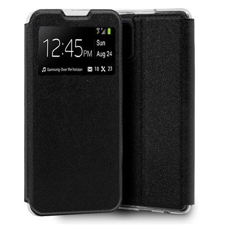Funda de Tapa con Ventana para Xiaomi Mi 10 Lite Negro