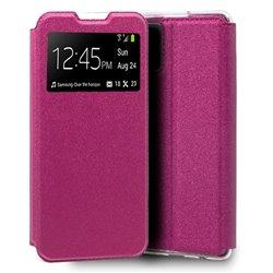 Funda de Tapa con Ventana para Xiaomi Mi 10 Lite Rosa