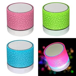 Mini Altavoz Bluetooth A9 Portatil 3W con luz LED y USB