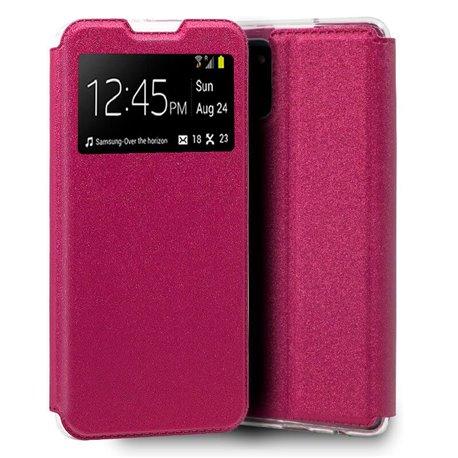 Funda con tapa y ventana para Samsung Galaxy Note 10 Lite Rosa