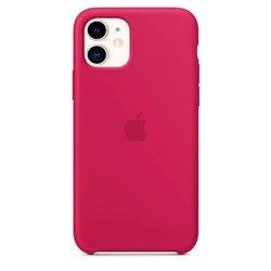 Funda de Silicona suave con logo para Apple iPhone 11 Frambuesa