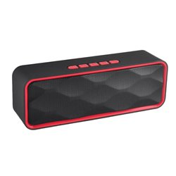 Altavoz Bluetooth BS1700 con Radio FM, MP3 y Manos Libres Rojo