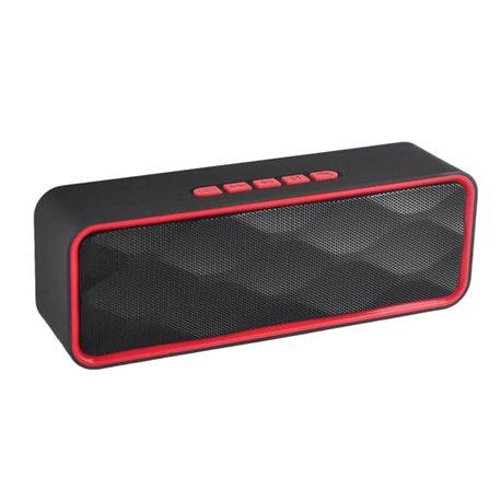 Altavoz Bluetooth BS1700 con Radio FM, MP3 y Manos Libres Rojo