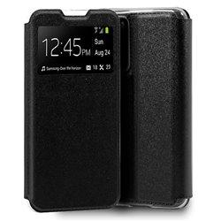 Funda con tapa y ventana para Huawei P40 Pro Negro