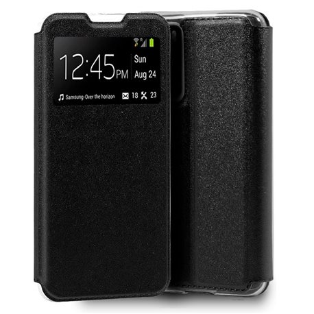 Funda con tapa y ventana para Huawei P40 Negro