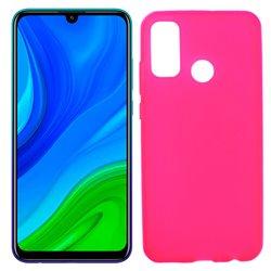 Funda rosa de silicona para Huawei P Smart 2020