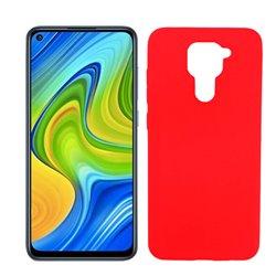 Funda roja de silicona para Xiaomi Redmi Note 9