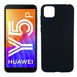 Funda negra para Huawei Y5p de silicona