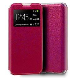 Funda con Tapa y Ventana para Huawei Y5p Rosa