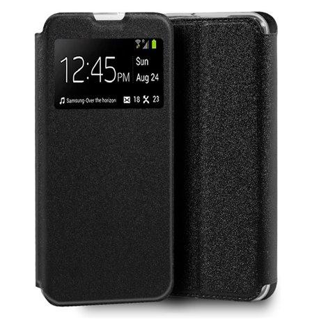 Funda con tapa y ventana para Huawei Y5p Negro