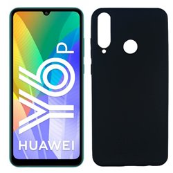 Funda negra para Huawei Y6p de silicona