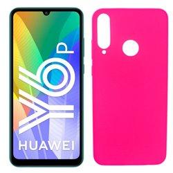 Funda rosa para Huawei Y6p de silicona
