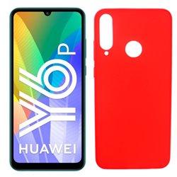 Funda roja para Huawei Y6p de silicona