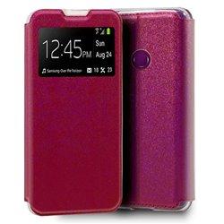 Funda con tapa y ventana para Huawei Y6p Rosa