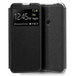 Funda con tapa y ventana para Huawei Y6p Negro