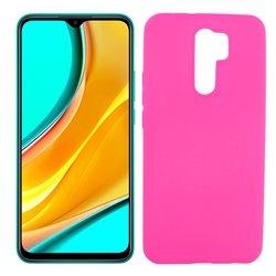 Funda rosa para Xiaomi Redmi 9 de silicona