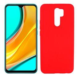 Funda roja para Xiaomi Redmi 9 de silicona