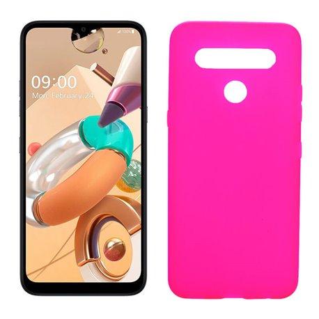 Funda rosa para LG K41S / K51S de silicona