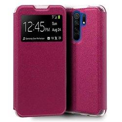Funda con Tapa y Ventana para Xiaomi Redmi 9 rosa
