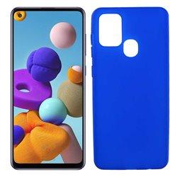 Funda azul para Samsung Galaxy A21S de silicona