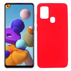 Funda roja para Samsung Galaxy A21S de silicona