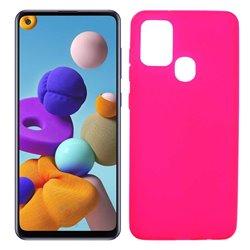Funda rosa para Samsung Galaxy A21S de silicona