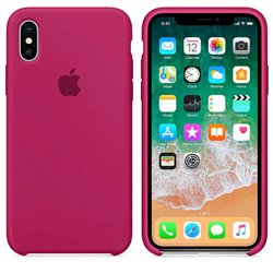 Funda de Silicona suave con logo para Apple iPhone Xr Rosa