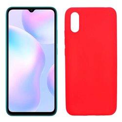 Funda roja para Xiaomi Redmi 9A de silicona