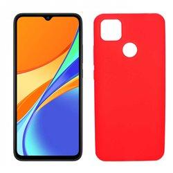 Funda roja para Xiaomi Redmi 9C de silicona