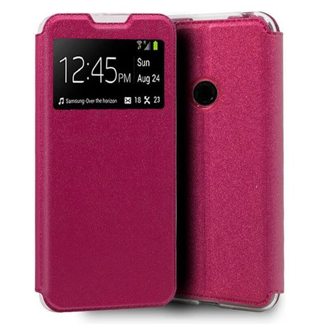 Funda con Tapa y Ventana para Xiaomi Redmi 9C rosa