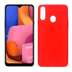Funda roja para Samsung Galaxy A20S de silicona