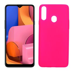 Funda rosa para Samsung Galaxy A20S de silicona