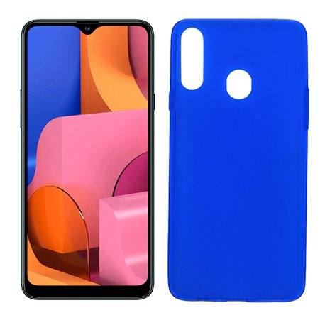 Funda azul para Samsung Galaxy A20S de silicona
