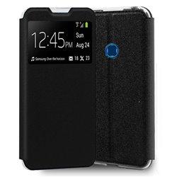 Funda con tapa y ventana para Samsung Galaxy A20S Negro