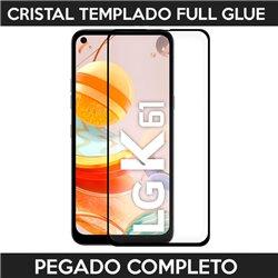 Protector de pantalla completo full glue para LG K61