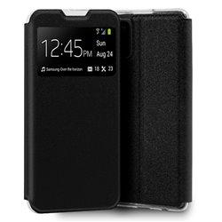 Funda con tapa y ventana para Samsung Galaxy A31 Negro