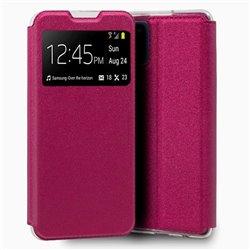 Funda con tapa y ventana para Samsung Galaxy A31 Rosa