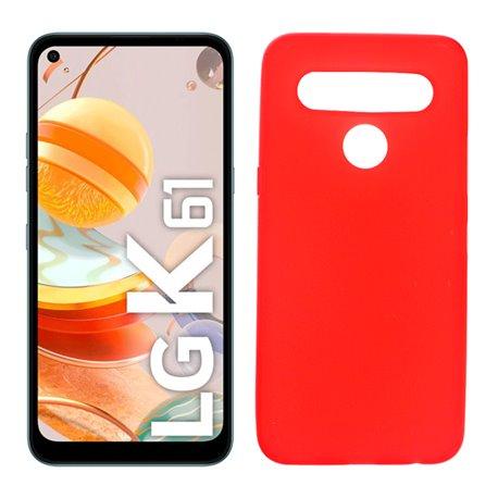 Funda roja para LG K61 de silicona